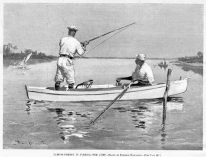 Frederic_Remington_Tarpon_Fishing_in_Florida_Oar_Row_Boat_Jumping_Tarpon